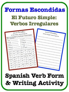 Spanish Simple Future Writing Activity (Irregular Verbs)