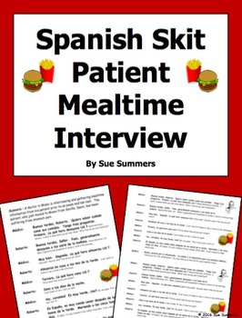 Spanish Skit / Role Play / Speaking Activity - Mealtimes -