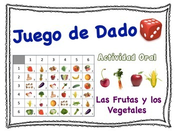 Spanish Fruits and Vegetables Speaking Activity for Small