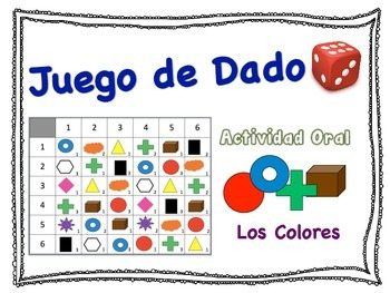 Spanish Color Vocabulary Speaking Activity for Small Group