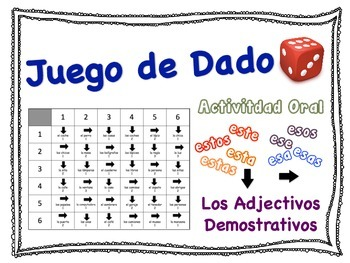 Spanish Demonstrative Adjectives Speaking Activity for Sma