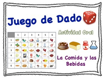Spanish Food and Drink Speaking Activity for Small Groups