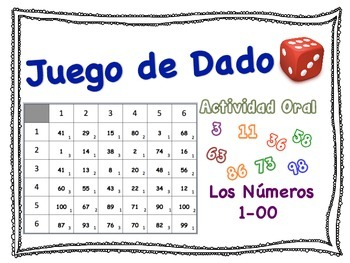 Spanish Numbers 1-100 Speaking Activity for Small Groups (
