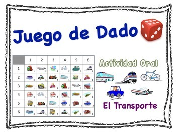Spanish Transportation Speaking Activity for Small Groups