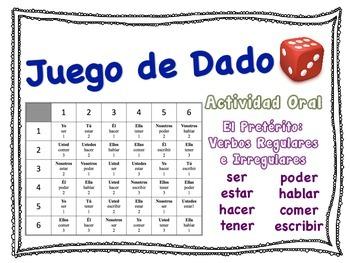 Spanish Preterite (Regular & Irregular) Speaking Activity