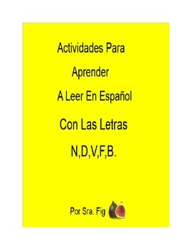 Spanish Smart Board Interactive Activities for letters N,D