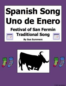 Spanish Song Uno de Enero for Festival of San Fermín