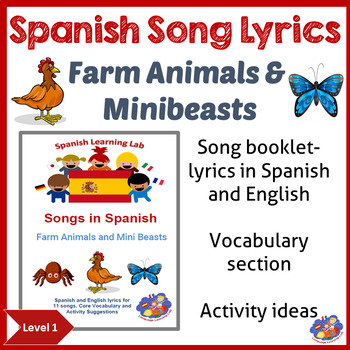 Spanish Song booklet - Songs in Spanish - Farm Animals & M