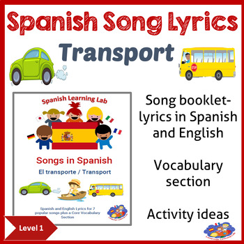 Spanish Song booklet - Songs in Spanish - Transport theme
