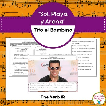 "Spanish Songs:  ""Sol, Playa, y Arena"" & the verb IR"