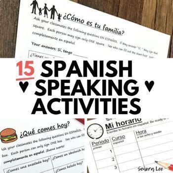 Spanish Speaking Activity BUNDLE - Find Someone Who
