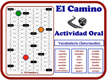 Spanish Speaking Activity for Intermediate Students (Low t
