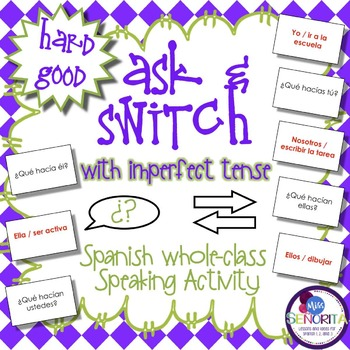 Spanish Speaking Activity with Imperfect Tense - Hard Good