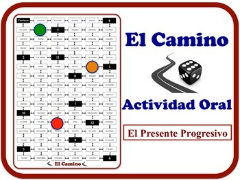 Spanish Present Progressive (Regular Verbs) Speaking Activ