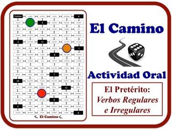 Spanish Preterite (Reg. & Irreg. Verbs) Speaking Activity.