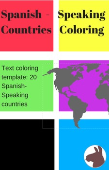 Spanish Speaking Countries Color Text