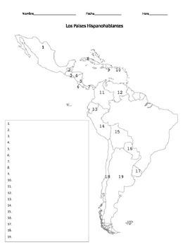 Spanish Speaking Countries Map Quiz