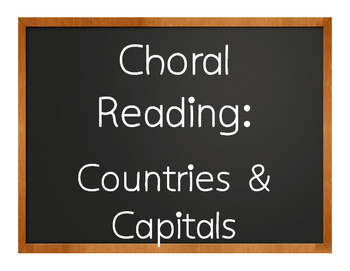 Spanish-Speaking Countries and Capitals Choral Reading