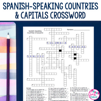 Spanish-Speaking Countries and Capitals Crossword