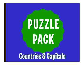 Spanish-Speaking Countries and Capitals Puzzle Pack