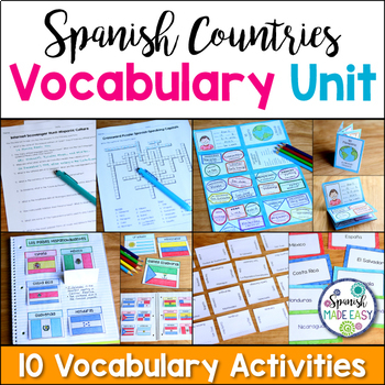 Spanish Countries and Capitals Vocabulary Unit