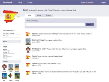 Spanish-Speaking Country Facebook-Type Info Pages (Project