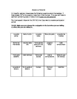 Spanish Speaking Practice- present tense