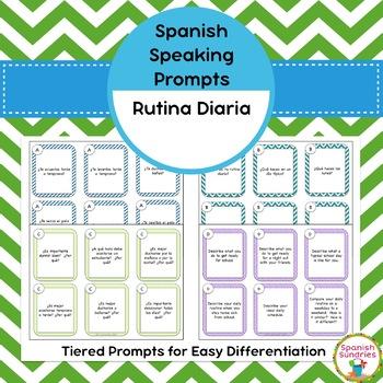 Spanish Speaking Prompts - Daily Routine (Rutina Diaria)