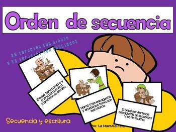 Spanish Speaking :Taller de orden de secuencia /Sequencing