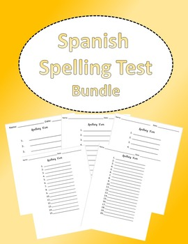 Spanish Spelling Test Bundle