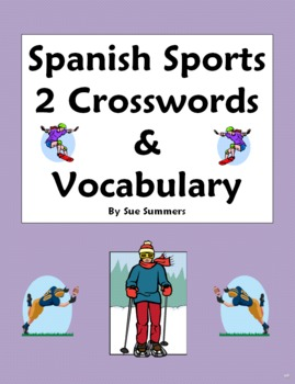 Spanish Sports 2 Crosswords, Images, and Word List - Subst