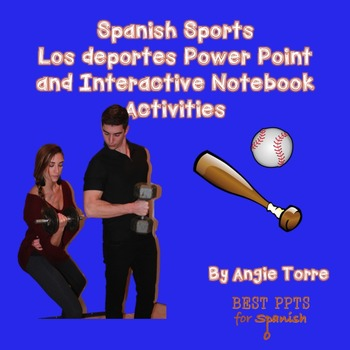Spanish Sports Los deportes Power Point and Interactive No