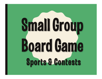 Spanish Sports and Contests Board Game