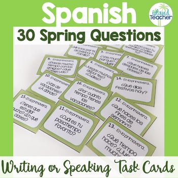 Spanish Spring Conversation or Task Cards