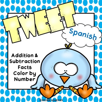 Spanish Spring Math / Addition and Subtraction Facts to 20
