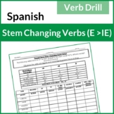 Spanish Stem-Changing Verbs Drill (E-IE)