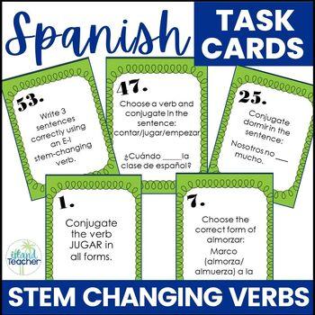 Spanish Stem Changing Verbs Task Cards