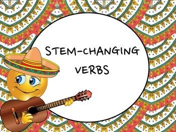 Spanish Stem-changing Verbs PowerPoint Slideshow Presentation