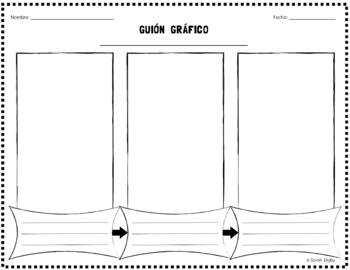 Spanish Storyboard Graphic Organizer / Guión Gráfico (Doub