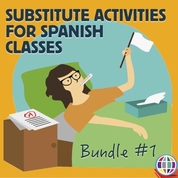 spanish substitute activities bundle 1 sub by the comprehensible classroom by martina bex. Black Bedroom Furniture Sets. Home Design Ideas