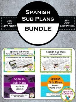 Spanish Sub Plans Bundle