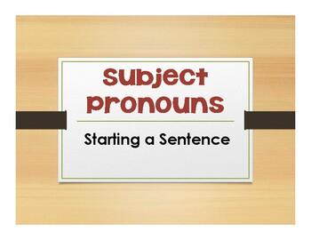 Spanish Subject Pronoun and Ser Notes