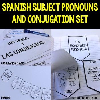 Spanish Subject Pronouns and Conjugation Set