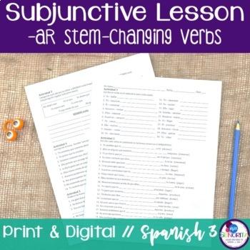 Spanish Subjunctive -AR Stem-Changing Verbs Lesson