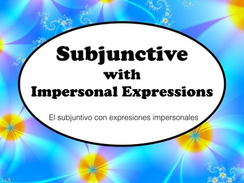Spanish Subjunctive after Impersonal Expression Keynote Sl