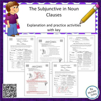 Spanish Subjunctive in Noun Clauses - Explanation and Worksheets