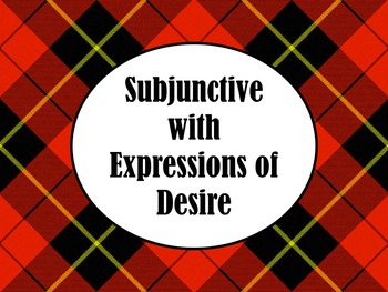 Spanish Subjunctive with Expressions of Desire PowerPoint