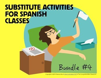 Spanish Substitute Activities Bundle #4: Storyboards for S