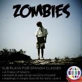 Spanish Substitute Activities Bundle: ZOMBIES