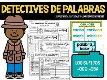 Spanish Suffixes - La policía de palabras - los sufijos -o